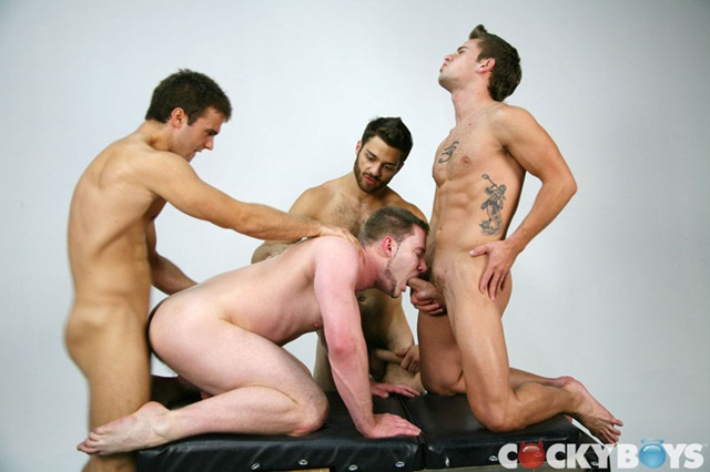 Gabriel Mason Tommy and David in Cockyboys Fourgy