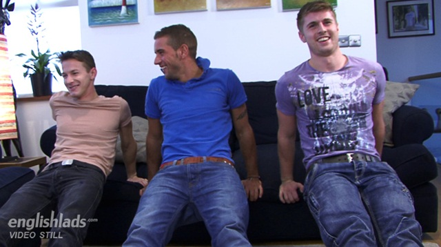 Straight pup Dan James our fitness trainer gets his cock butt worshipped by Dan Broughton and Darius Download Full Stud Gay Porn Movies Here