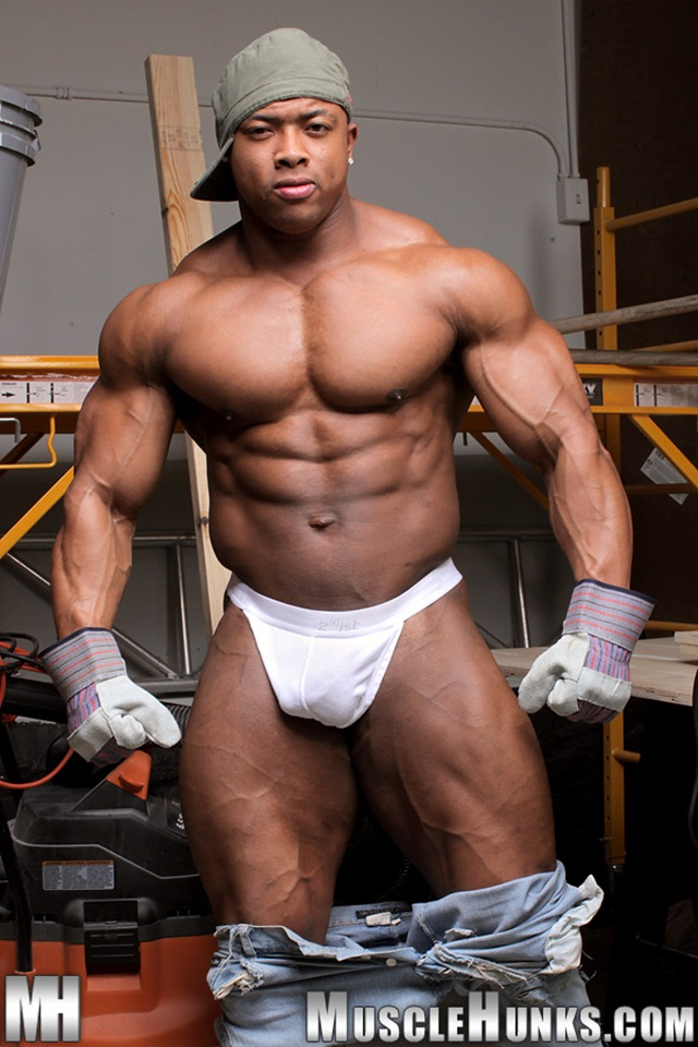 Black gay muscle hunks