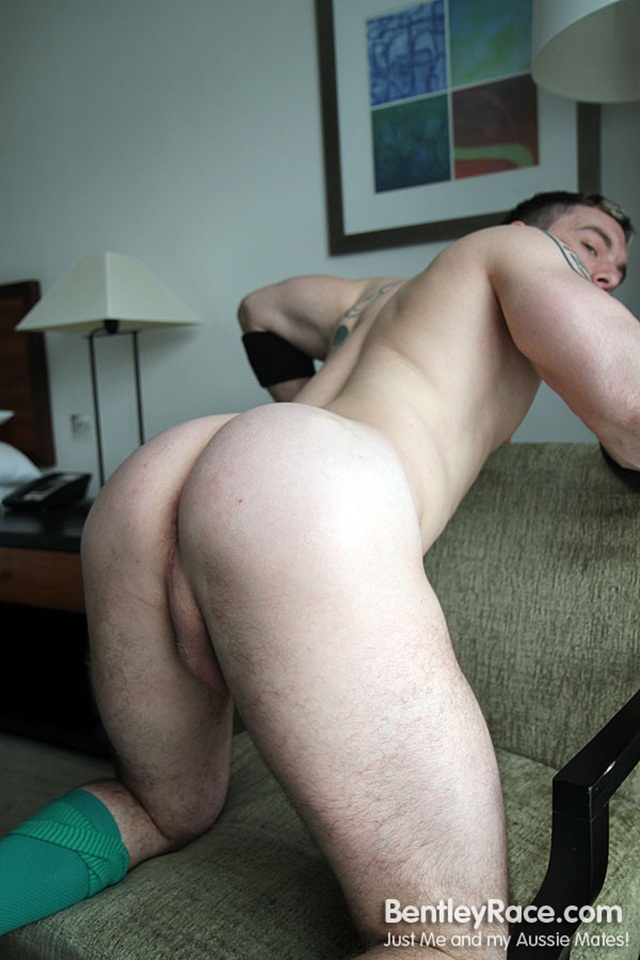 Muscle Hunk Strips Naked And Strokes His Big Hard Cock For At Bentley