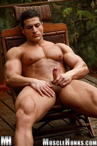 nude gay porn pics Amerigo Jackson Gallery 001 Ripped Muscle Bodybuilder Strips Naked and Strokes His Big Hard Cock for at Muscle Hunks photo11 Muscle Hunks: Nude Bodybuilder Gallery