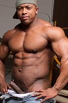 Naked black man ron hamilton muscle