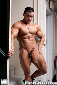 nude gay porn pics Macho Nacho gallery 001 Ripped Muscle Bodybuilder Strips Naked and Strokes His Big Hard Cock for at Muscle Hunks photo11 Muscle Hunks: Nude Bodybuilder Gallery
