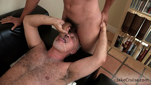 Gay cum facial daddy anal hot stud rocks 5