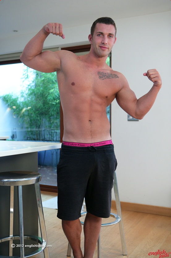 Personal trainer James Branson Tall muscular tanned ripped hung 02 Ripped Muscle Bodybuilder Strips Naked and Strokes His Big Hard Cock photo Straight personal trainer James Branson   Tall muscular tanned ripped & hung
