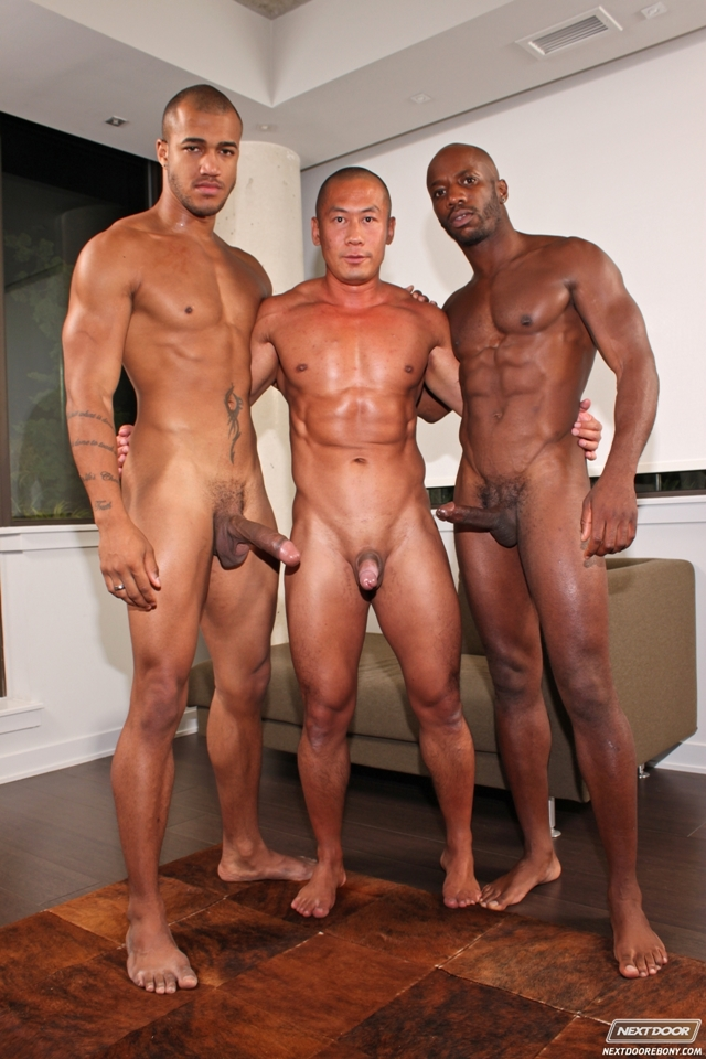 Black threesome gay porn