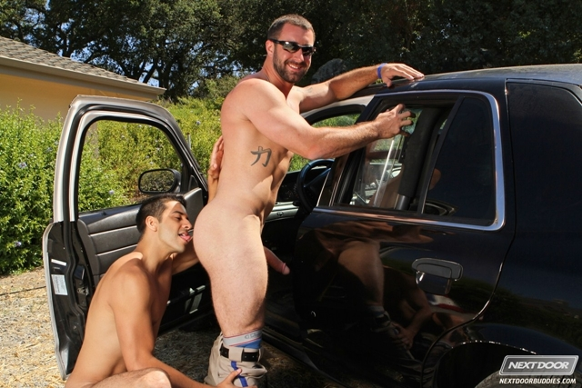 policemen in cars nude