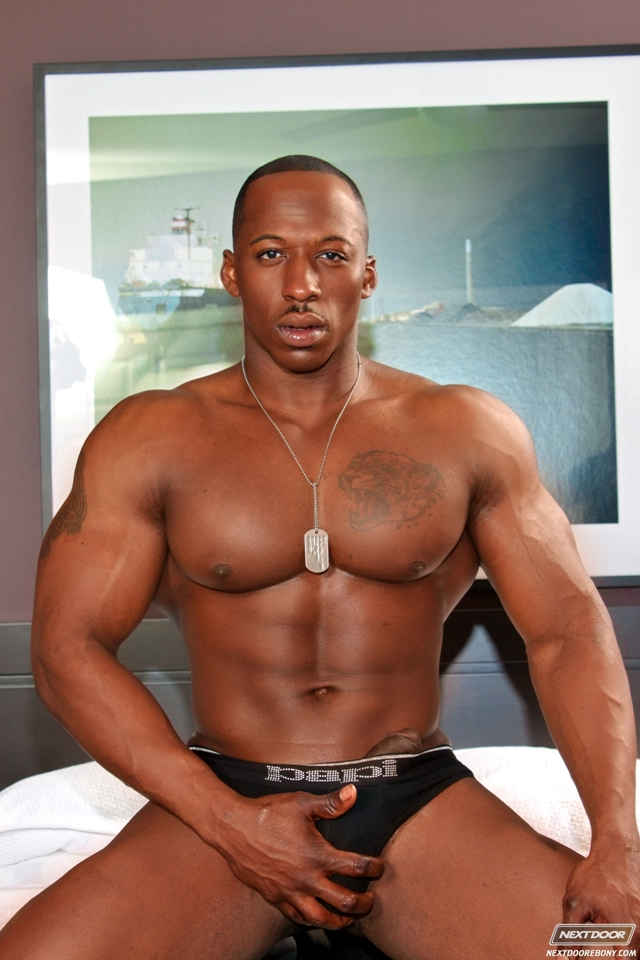 Derek Jackson  Gay Porn Pictures  Videos  Black Muscled Cock-8902