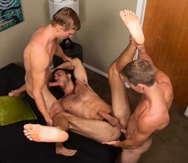 image Straight boys having gay sex as he
