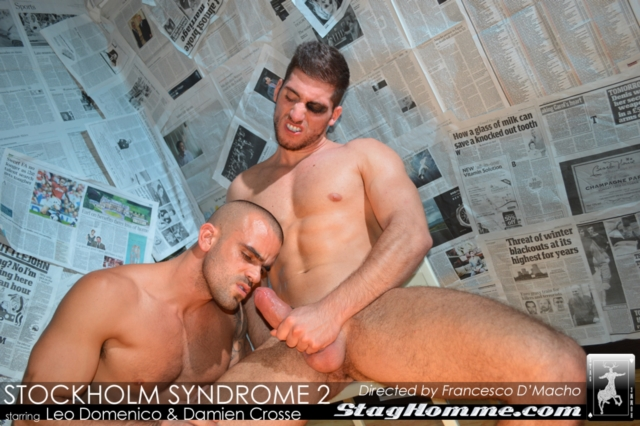 Muscled leo domenico bum shagged in shower 6