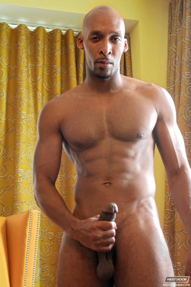 creepy black naked man