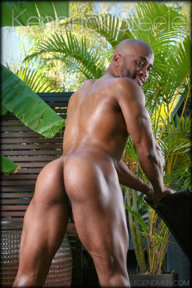 Kendrick Steele  Gay Porn Star Pics  Black Muscle Naked -5476