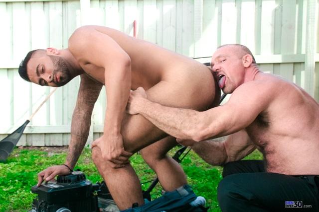 amateur homemade gay bareback fucking as he dipped his jizz shot