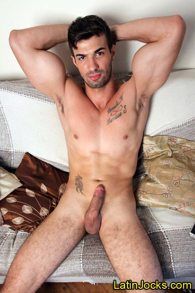 latin jocks tattoo muscular latino stud bulging pecs big arms