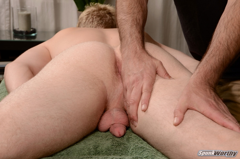Horny Gay Masseuse Massaging Straight Boys Ass