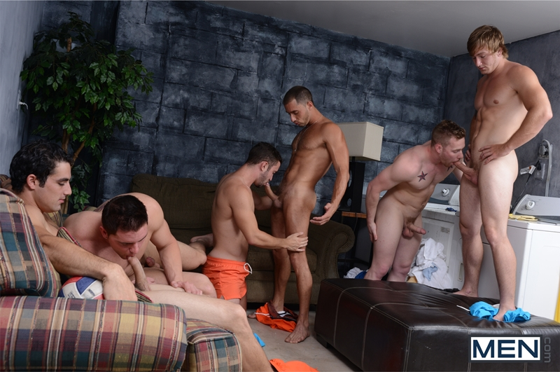 Men being strip search