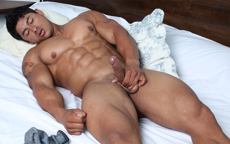 Cum gay muscle movie handsome asian
