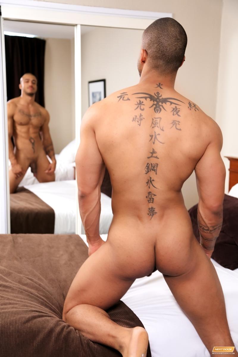 nude man facing among sexy girls
