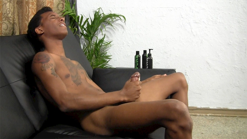 College Dude Liam Jerks His Big Black Cock -3883