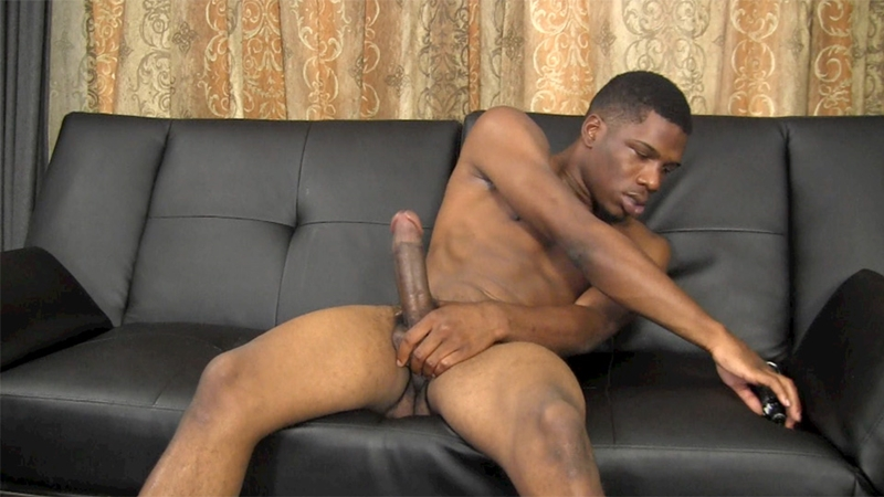 Black shot cum thick cock