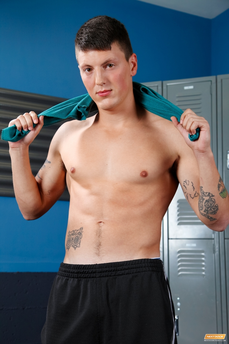 All American College Jock Troy Clark Solo Jerk Off  Nude -6529