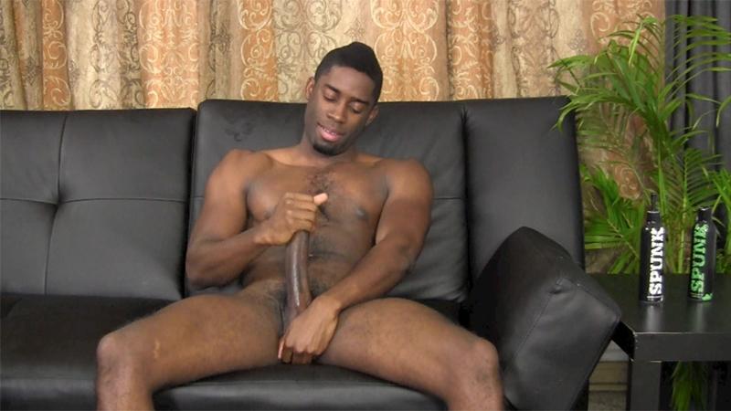 Black Gay Wanks Off His Dick