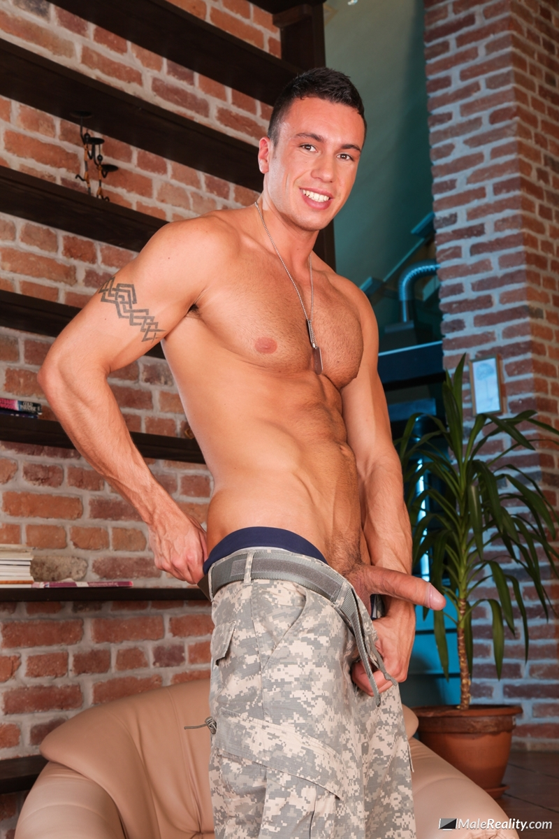 Gay in man uniform