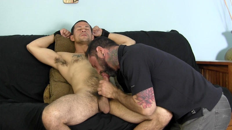 naughty straight amateur blows his load