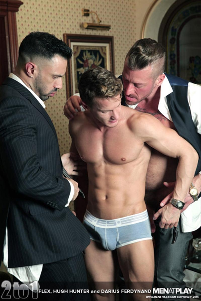 Hardcore Gay Porn Threesome Darius Ferdynand, Flex Xtremmo -9933
