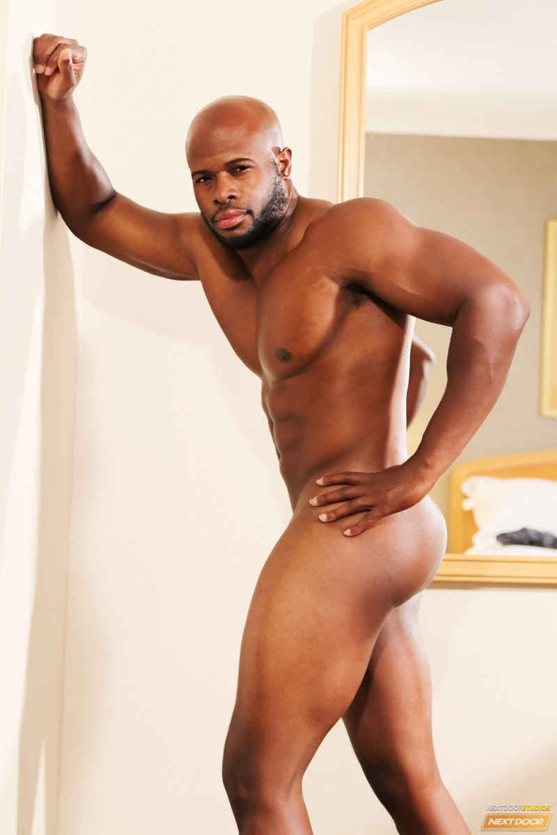 Massive huge black muscle cock gay hot 4