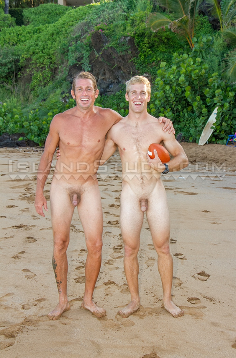 Nyles And Daddy Van Two Straight Surfer Jocks Playing -2177
