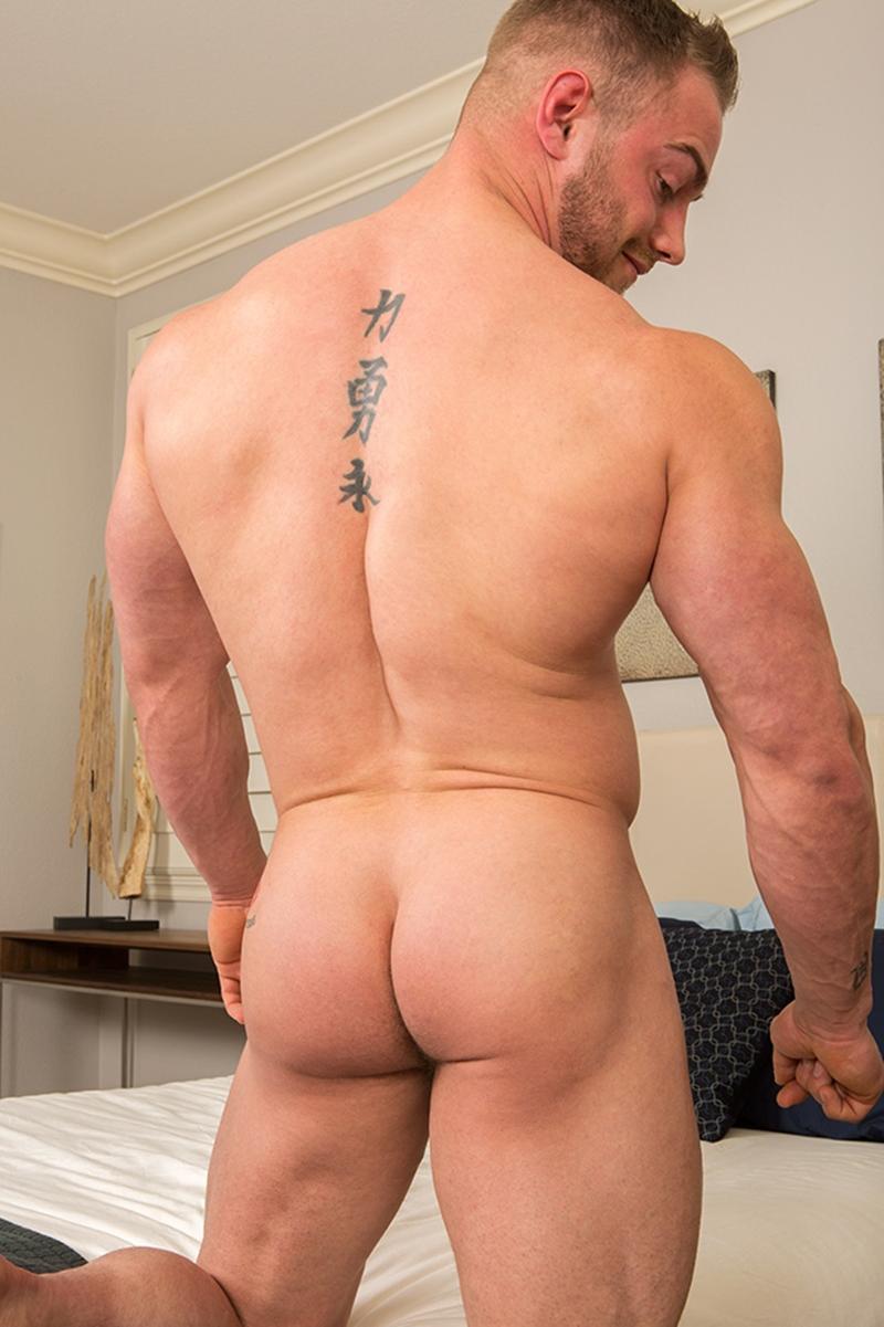 Muscle Tattooed Bearded Hunk Sean Cody Brock Jerks Out A -4564