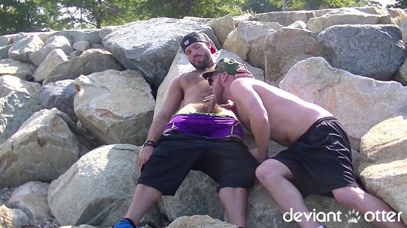 Deviant Otter Bareback Beach Bromance With Xavier Jacobs -8251