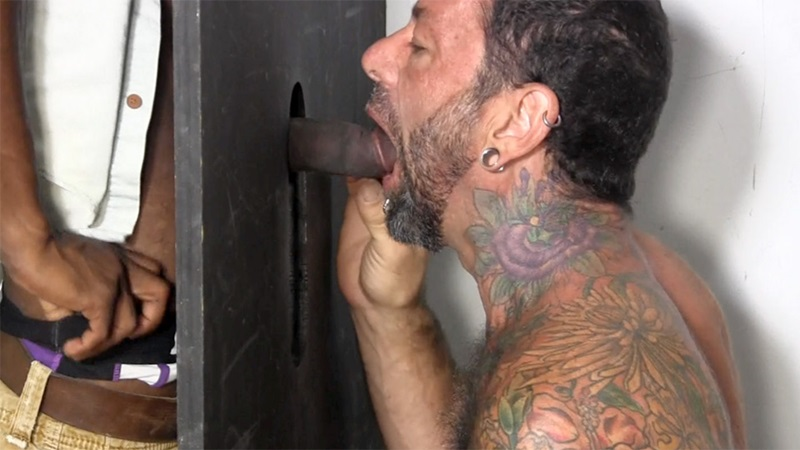 Interracial deep sucking of black huge cock