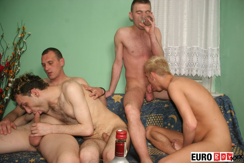 Four Overly Hung Guys With Uncircumcised Cocks Hardcore -4014