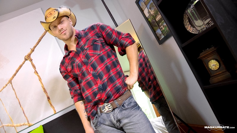 Maskurbate-tattoo-naked-muscle-hunk-Mike-sexy-cowboy-jock-hat-beautiful-stud-erect-big-dick-horny-young-man-guy-fucks-02-gay-porn-star-sex-video-gallery-photo