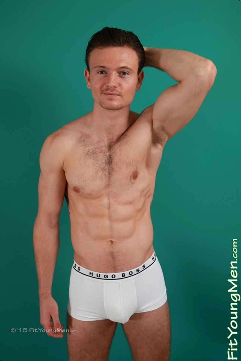 Gorgeous big muscle boy Skylar Shea packs out his assless