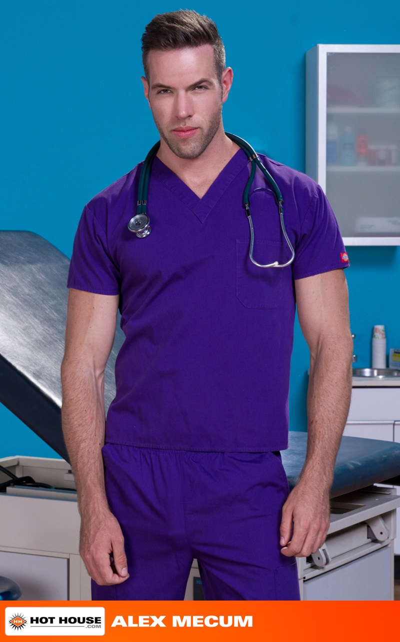 Hothouse-Medical-nurse-doctor-Chris-Bines-handsome-Alex-Mecum-fucking-butt-guy-bottom-massive-thick-cock-monster-hairless-ass-hole-rimming-05-gay-porn-star-sex-video-gallery-photo
