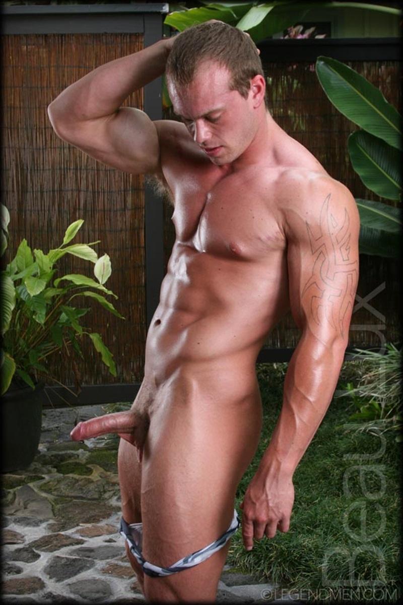 naked men shaving cock