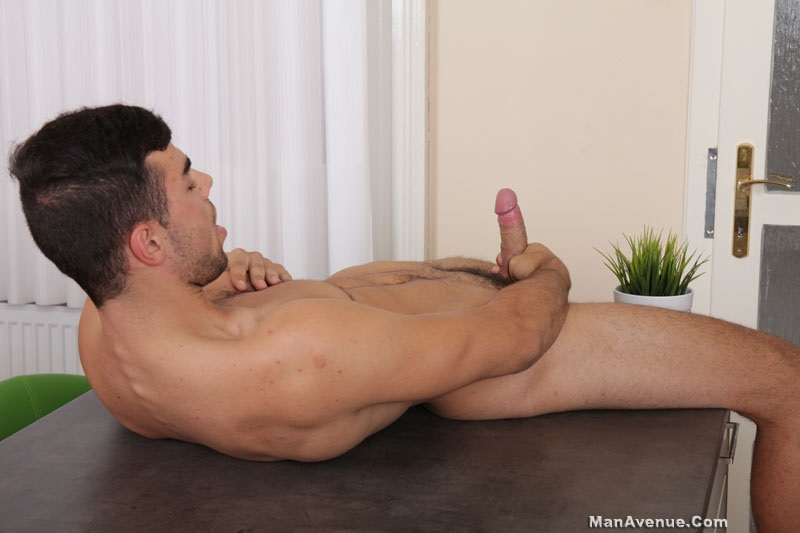 Buff Stud Cums Stroking