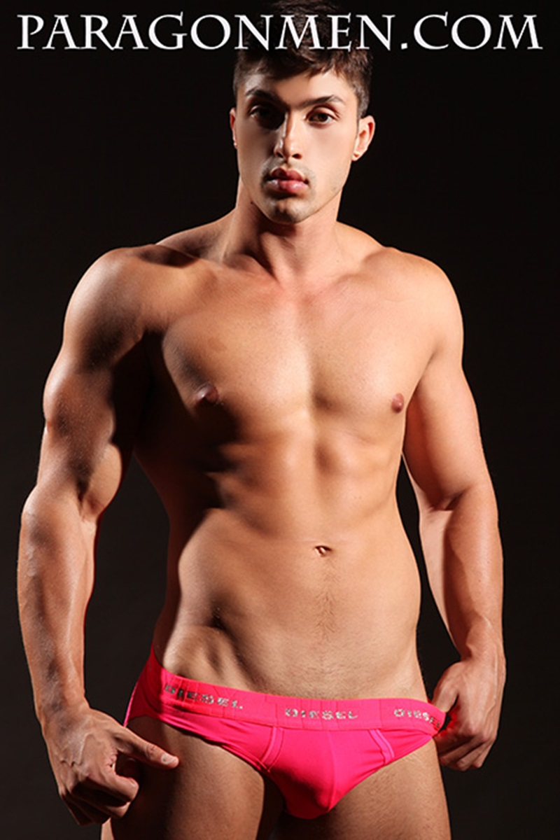 muscled gay in underwear