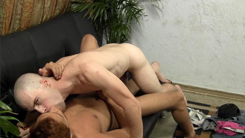 Straight Male Blasting His Jizz On Gay Stomach