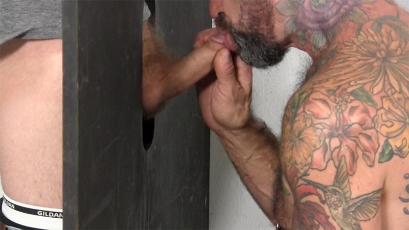 Straight Guy Gets Gay Blowjob On Gloryhole