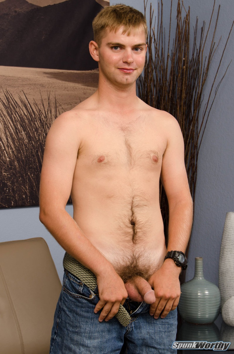 Spunk Worthys 20 Year Old Marc Jerks His Thick Dick To A -4863