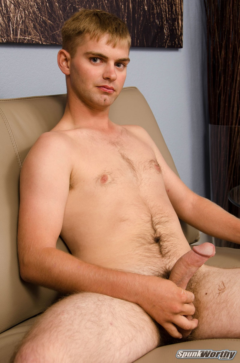 Spunk Worthys 20 Year Old Marc Jerks His Thick Dick To A Huge Straight -6544