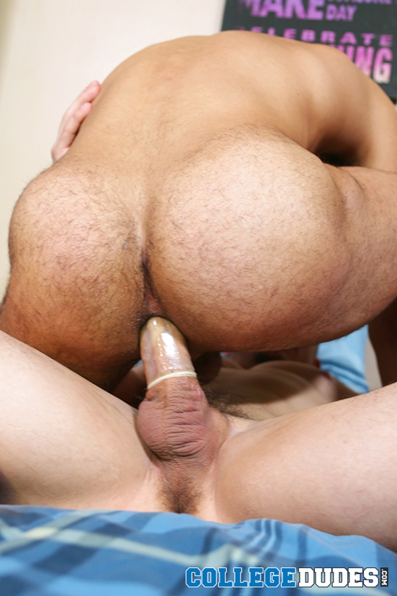 adam bryant gets on his knees to suck on javier cruz s