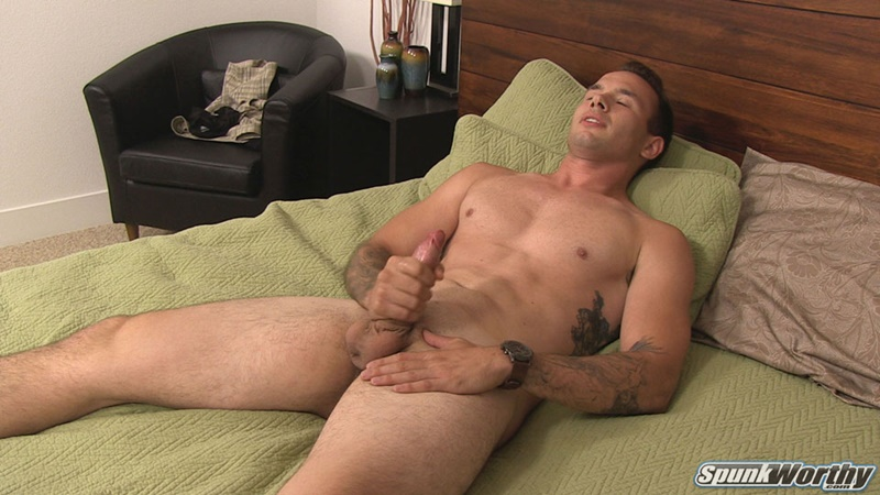 Military Man Spunk Worthy Mitch Jerks His Huge Uncut Dick To A Creamy Cum Shower -6869