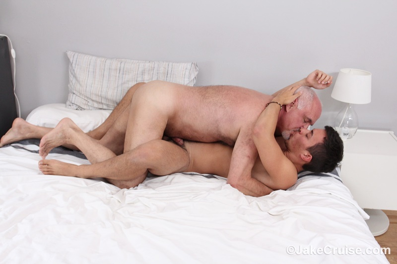 Gay guy rubbing dick against clothed guys