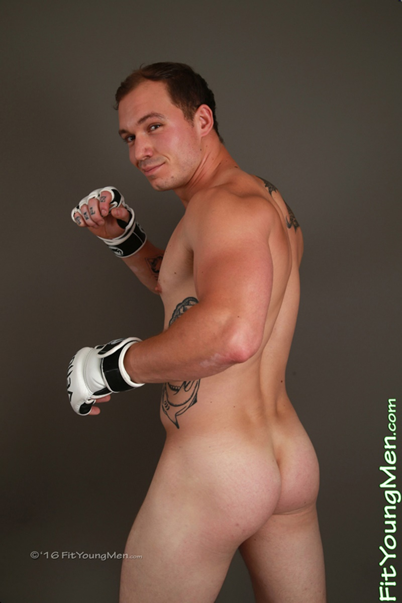 FitYoungMen sexy nude young guys Ricky Petras strips tight shorts sportmen jerking big thick uncut dick smooth bubble butt ass 002 gay porn sex gallery pics video photo - Fit Young Men 24 year old martial arts sportsmen Ricky Petras strips out of his sexy short