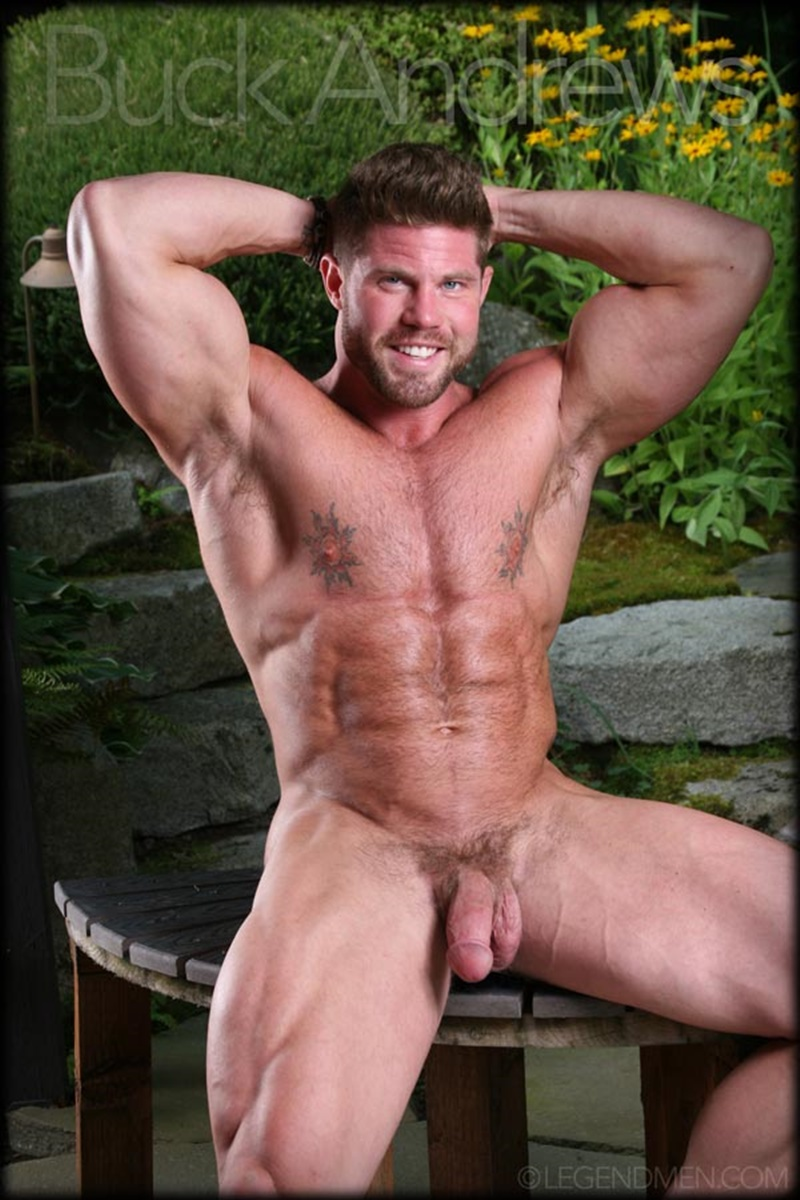 Legend Men Sexy Naked Big Muscle Hunk Buck Andrews -6805